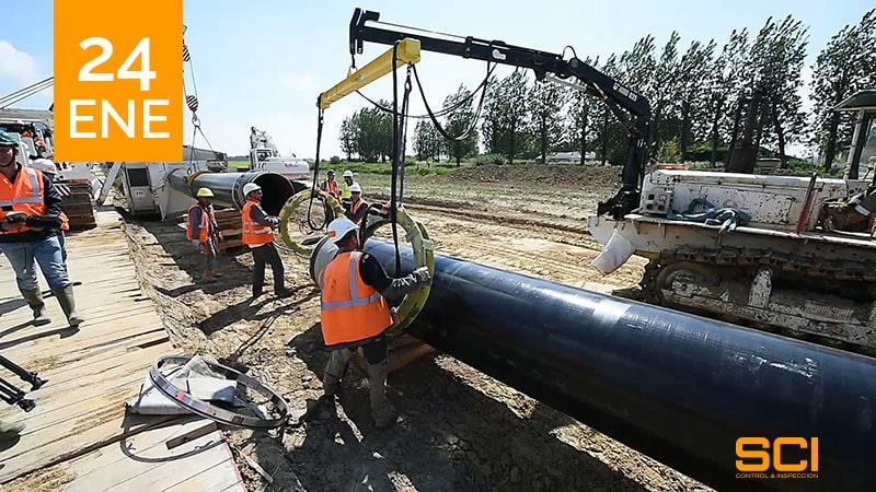 Trabajos de ensayo en el Gasoducto de Flandes