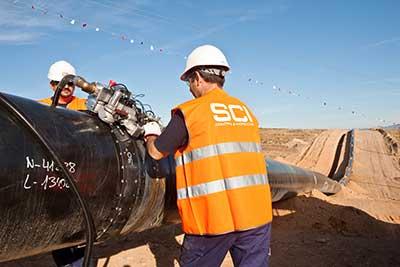 Trabajos ensayo en Gasoducto de Flandes