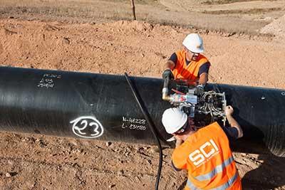 Trabajos ensayo en el Gasoducto de Los Ramones II