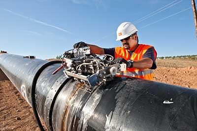 Trabajos de ensayo en el Gasoducto de Los Ramones II