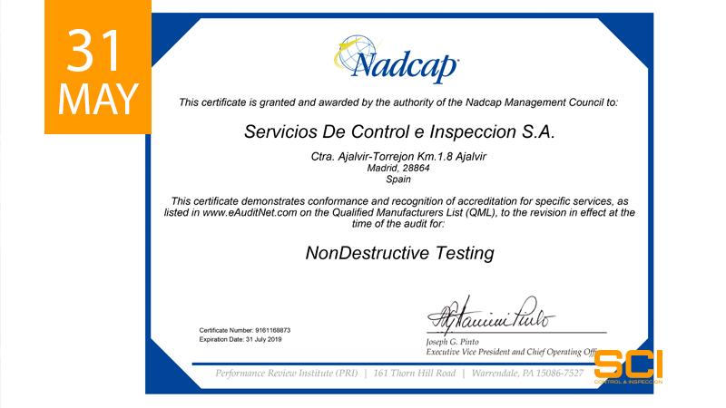 renovacion certificado nadcap