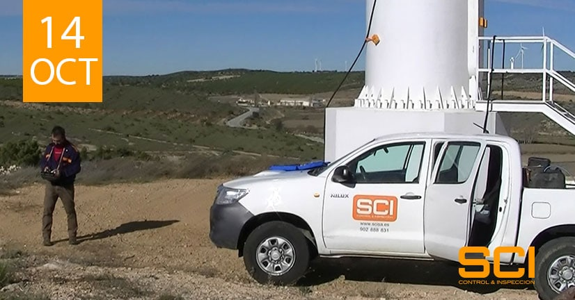 inspección de soldaduras de aerogeneradores
