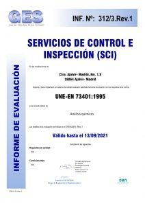 certificado Espectroscopia de absorción atómica