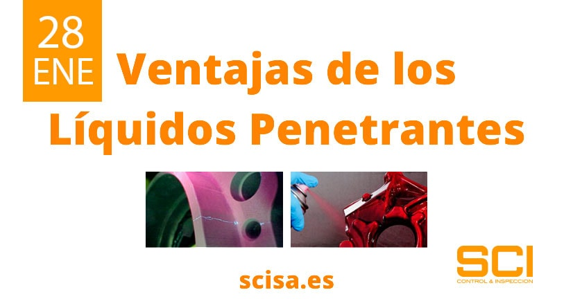 ventajas de los ensayos por líquidos penetrantes